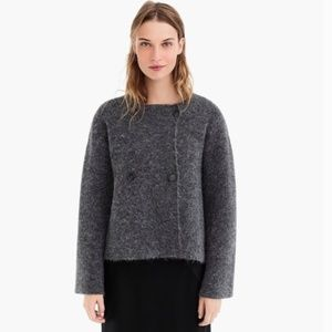 J. Crew Collection Double-breasted Collarless Coat